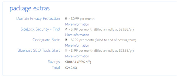bluehost-basic-plan-package-extras