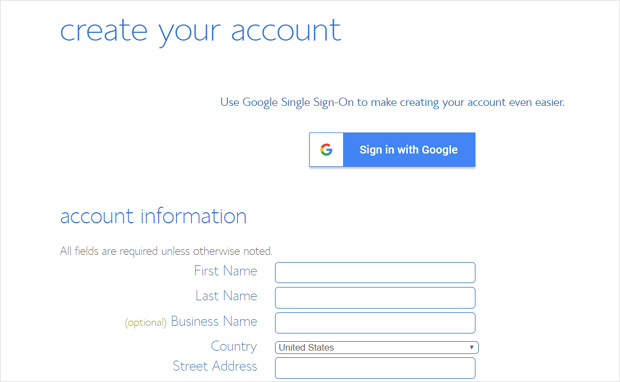 create-account-bluehost