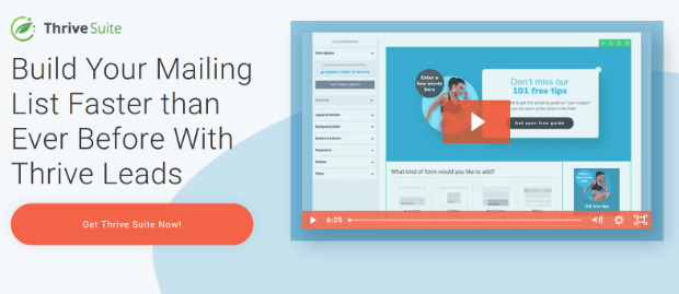 thrive leads email capture tool