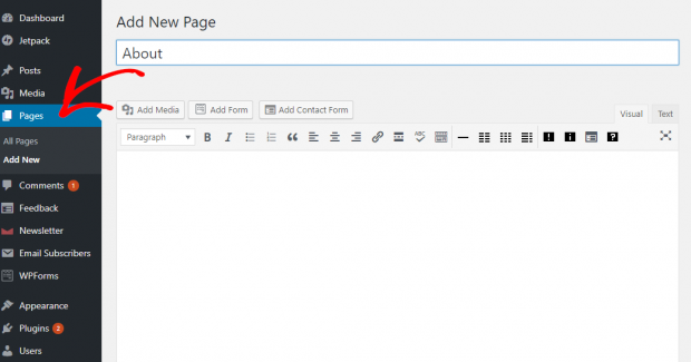 add-pages-to-wordpress-site