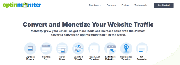 grow your email list with optinmonster