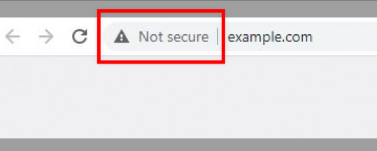 Not Secure warning