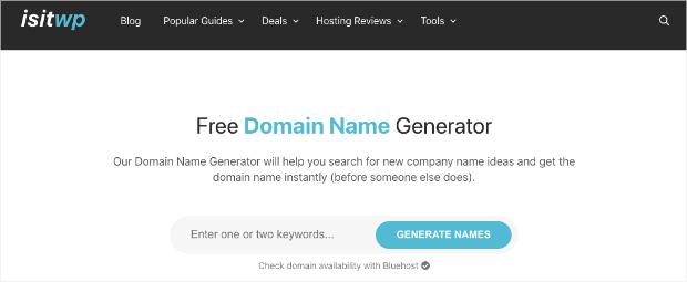 isitwp domain name generator